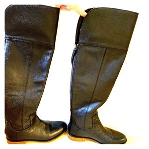 Franco Sarto over the knee black boots